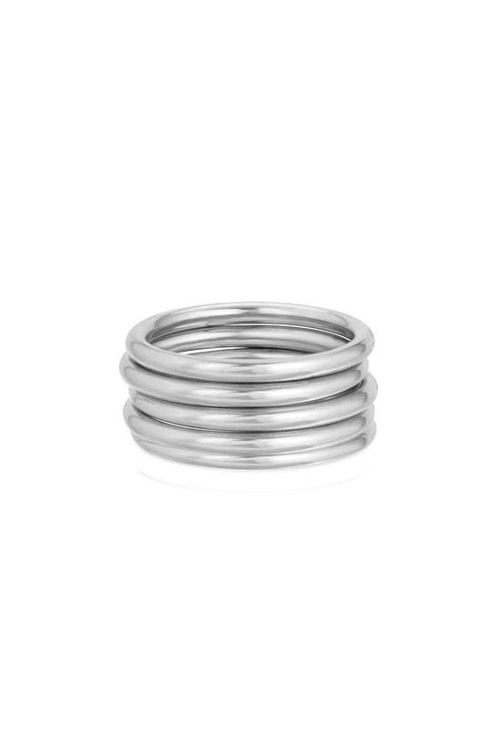 HEAVY STACKER RING, SILVER