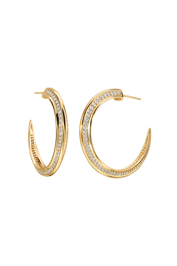 TUSK HOOP EARRINGS