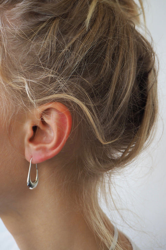 FISH HOOK EARRINGS | STERLING SILVER