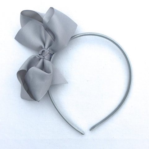 Silver Trixie Bow Headband