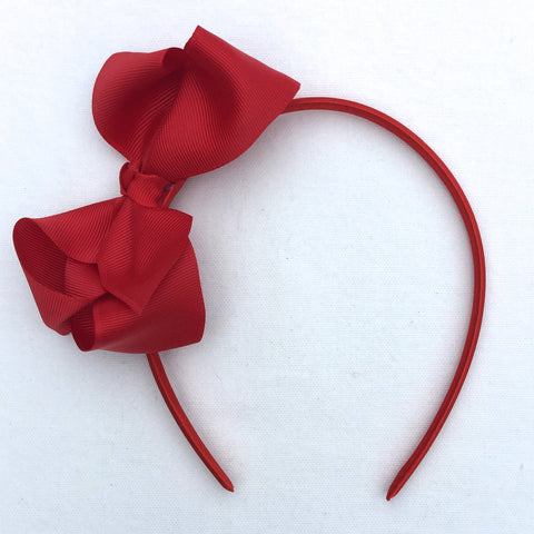 Red Trixie Bow Headband