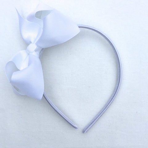 White Trixie Bow Headband