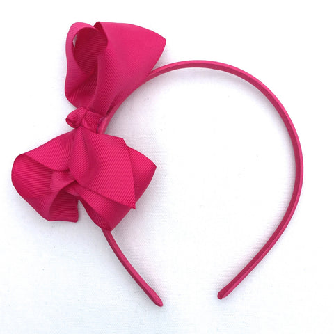 Raspberry Trixie Bow Headband