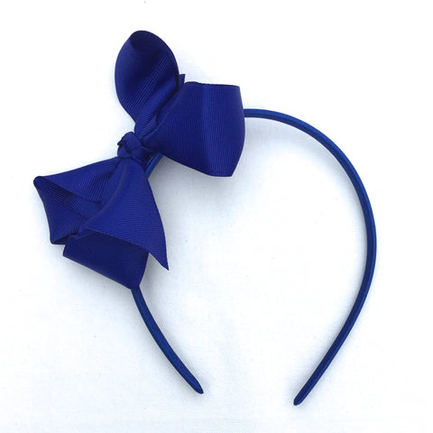 Cobalt Trixie Bow Headband