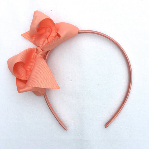 Peach Trixie Bow Headband