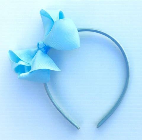 Sky Blue Trixie Bow Headband