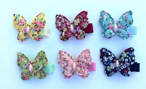 Spring Floral Butterfly Hairclip