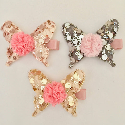 Sequins Tulle Butterfly Hairclip