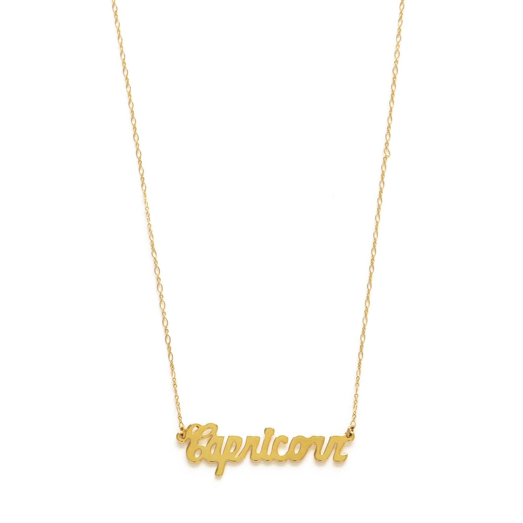 Retro Script Necklaces