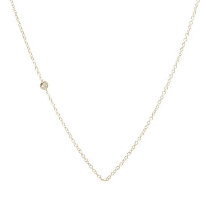 Zoe Chicco 14k gold & 2 pt diamond offset in chain