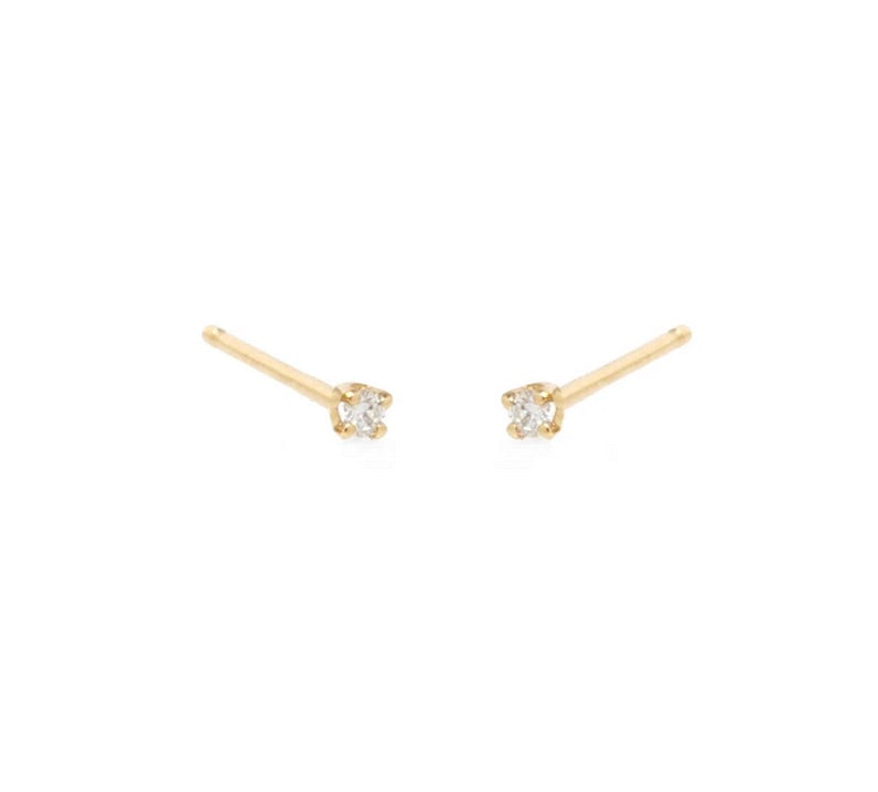 Zoe Chicco 14k Gold Prong Set Diamond Studs