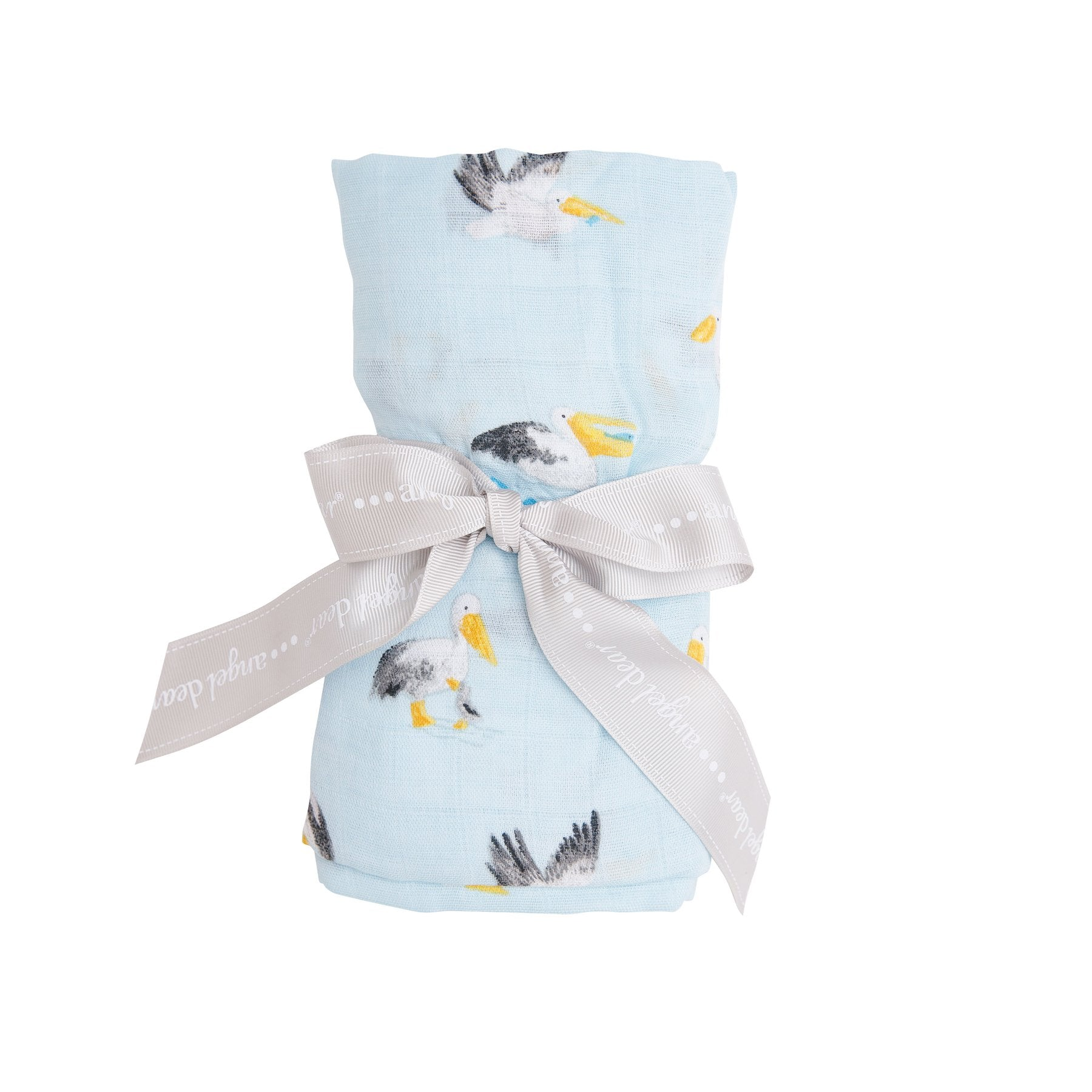 Blue Pelicans Swaddle Blanket