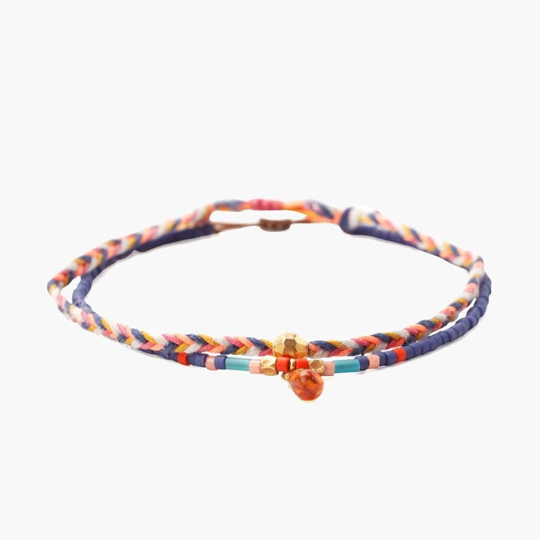 Chan Luu Blue Mix Bracelet Set of 2