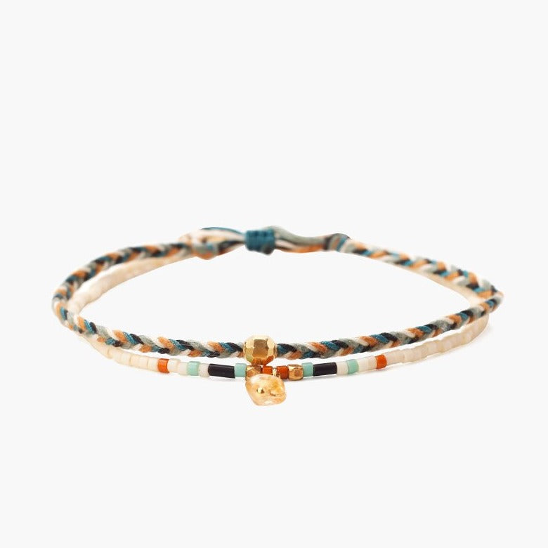 Chan Luu Cream Mix Bracelet Set of 2