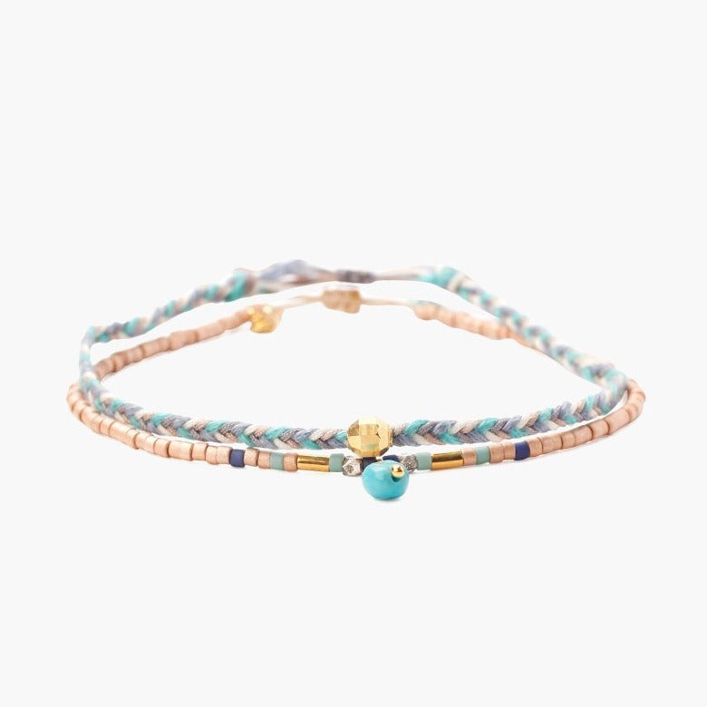 Chan Luu Muscat Mix Bracelet Set of 2