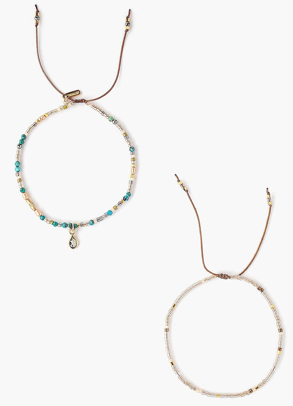 Chan Luu Turquoise Mix Bracelet Set of 2