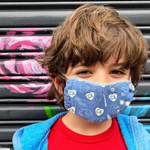 California Kids Face Mask - Blue