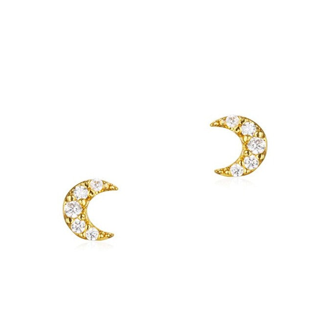 Tai Mini Cubic Moon Post Earring