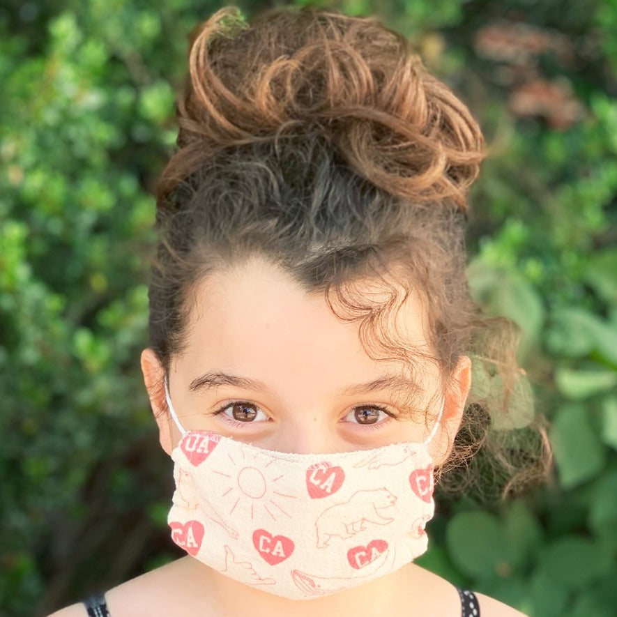 California Kids Face Mask - Natural