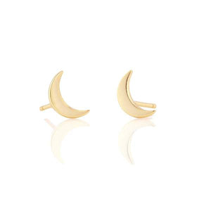 Kris Nations Crescent Moon Stud Earrings