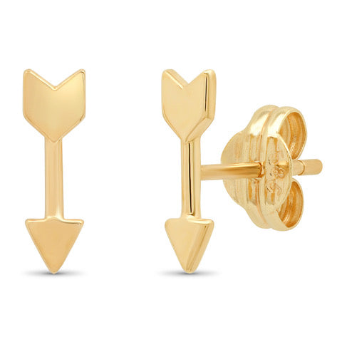 Tai 14k Gold Arrow Post Earrings