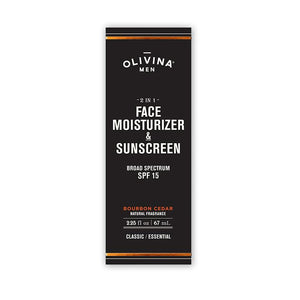 2 in 1 Face Moisturizer and Sunscreen - Bourbon Cedar