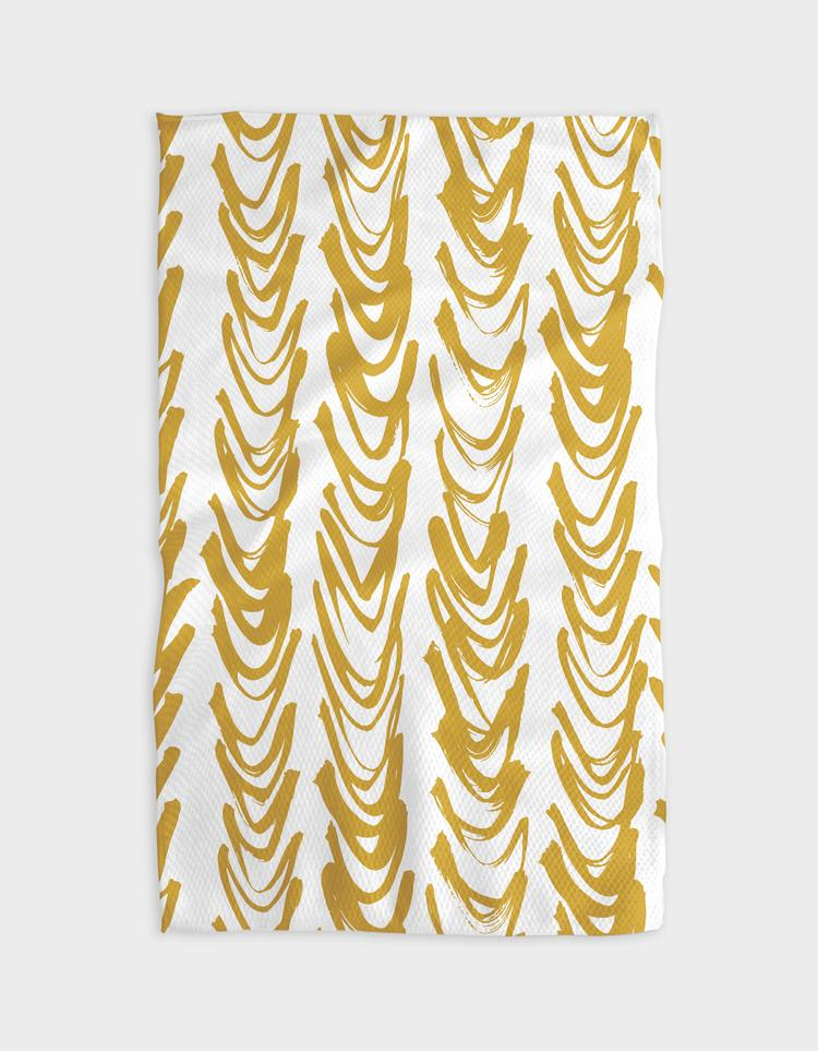 Microfiber Tea Towel - Gold Curtain