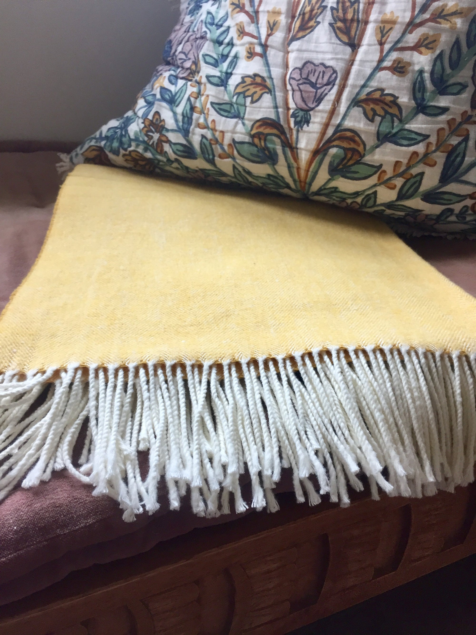 Cider Italian Herringbone Throw