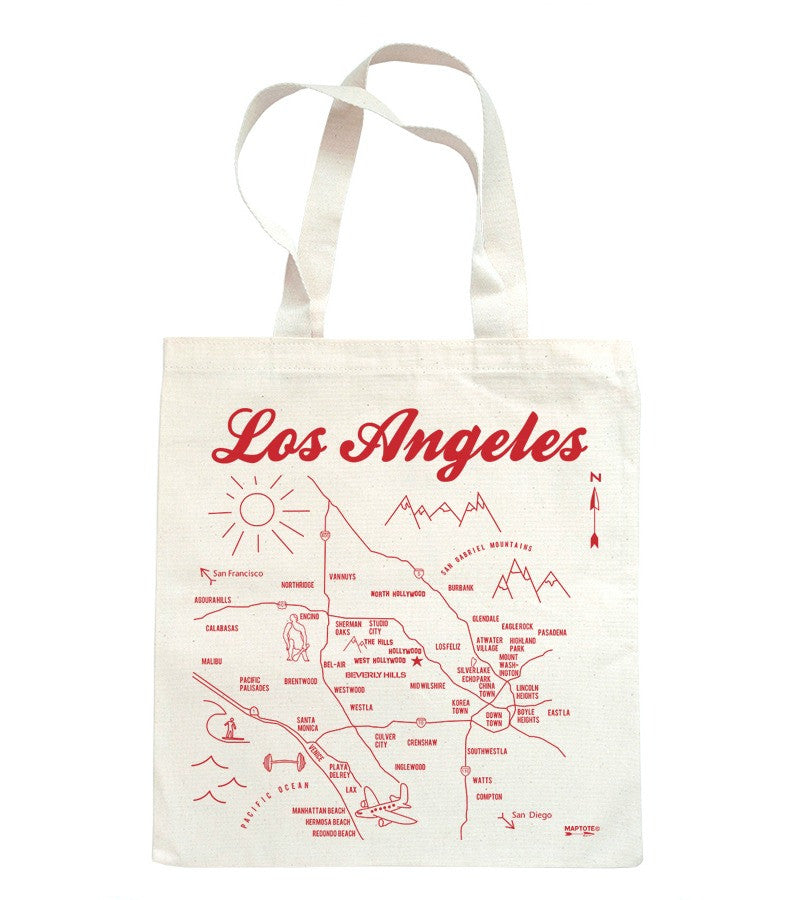 Los Angeles Tote - Red
