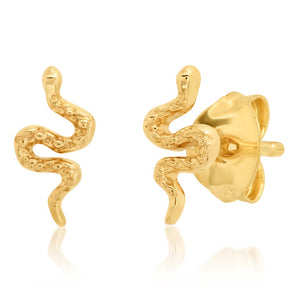 Tai 14k Gold Snake Post Earrings