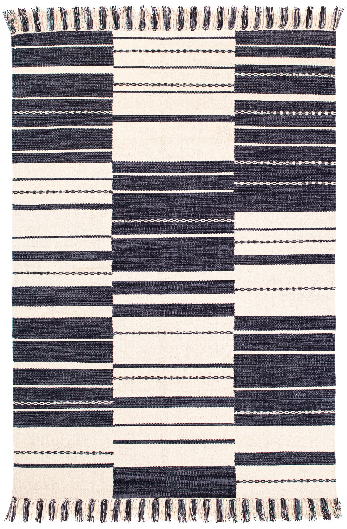 Metta - Black 2x3' Cotton Rug
