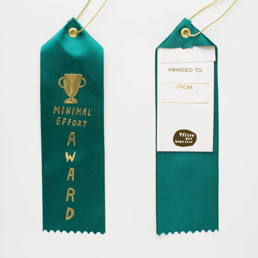 Minimal Effort Award Ribbon