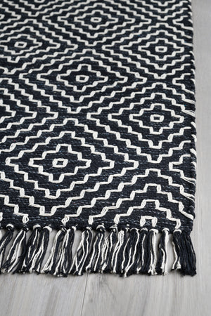 Mushin - Black 2x3' Cotton Rug