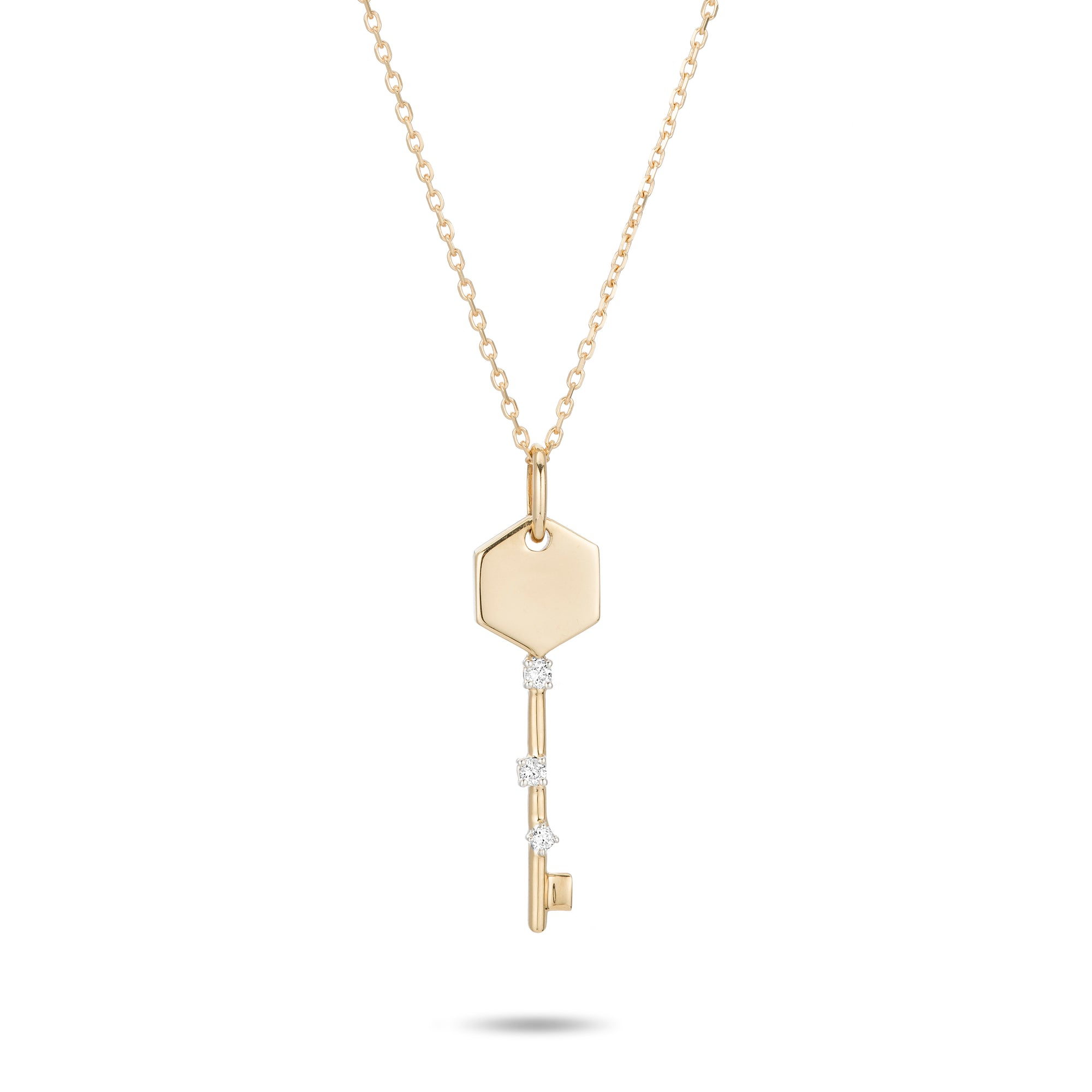 Adina Reyter Tiny Amigos Hexagon Key Necklace