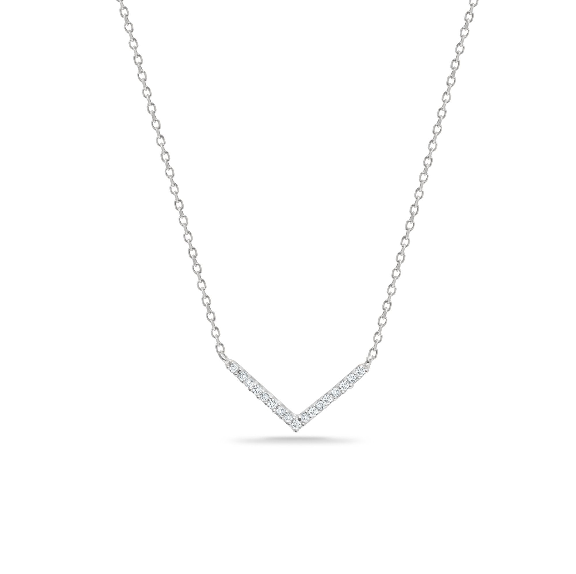 Adina Reyter Tiny Pavé V Necklace