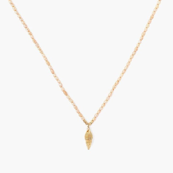 Chan Luu Champagne Pearl Necklace