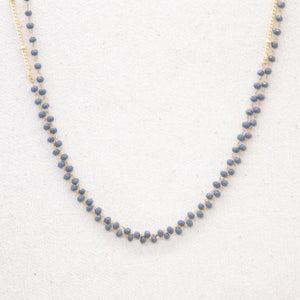 "Grey Crystal 50"" Necklace"