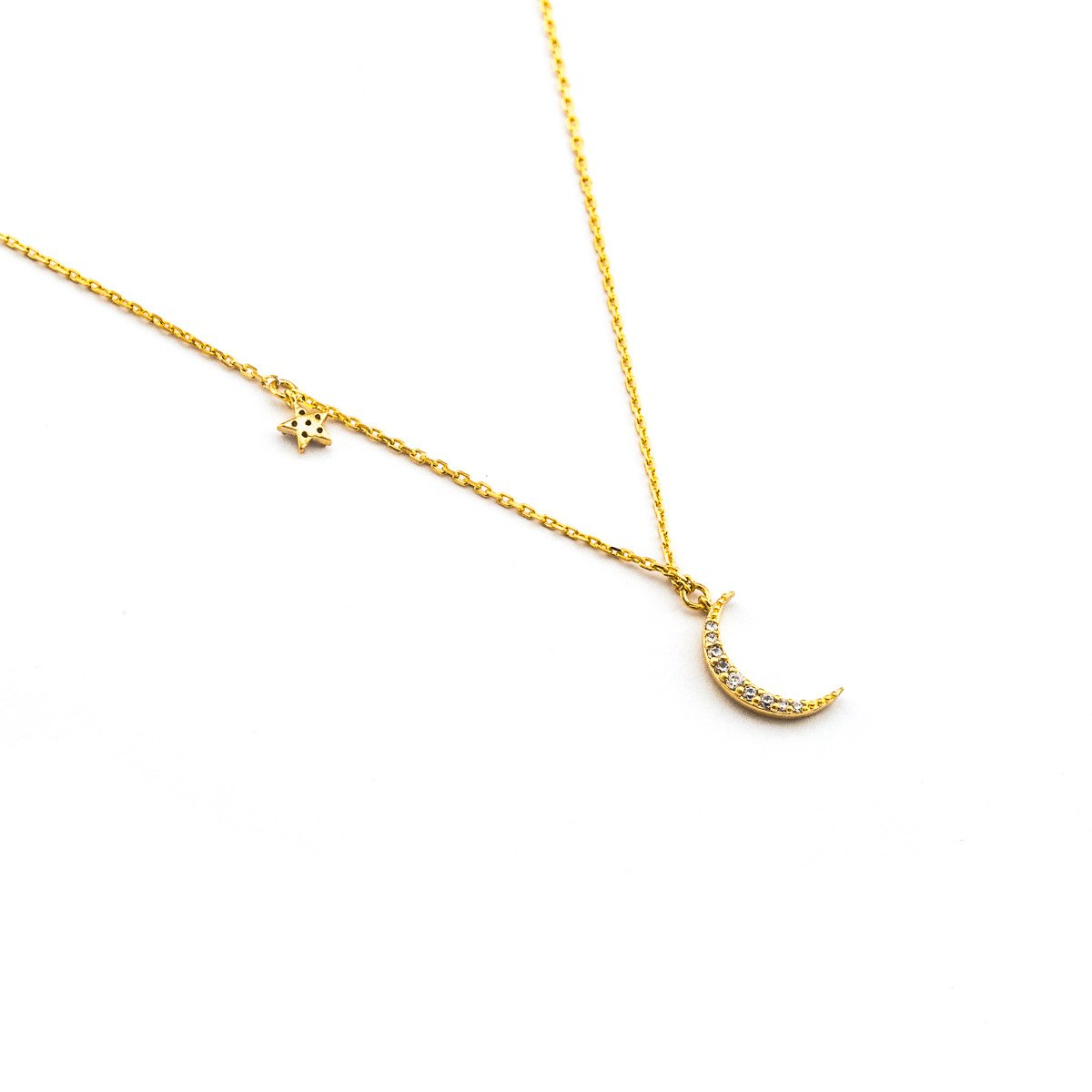 Tai Crescent Moon & Star Necklace