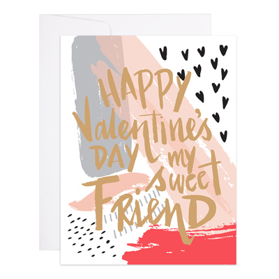 Painted Valentine Card