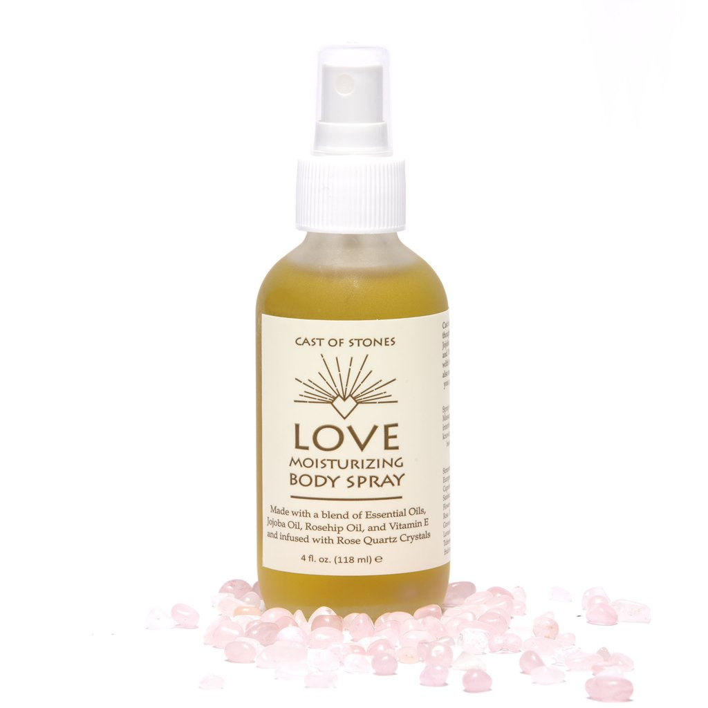 Love Body Spray with Rose Quartz Crystals