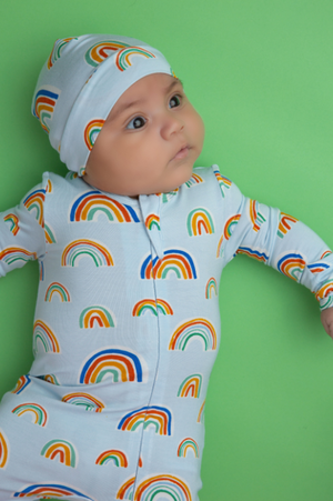 Zipper Footie in Rainbows