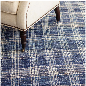 Dash & Albert Denim Plaid Woven Cotton Rug