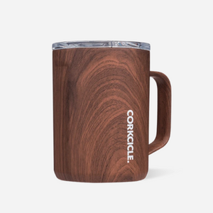 Corkcicle 16oz Walnut Wood Mug