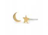 Kris Nations Moon + Star Stud Earrings
