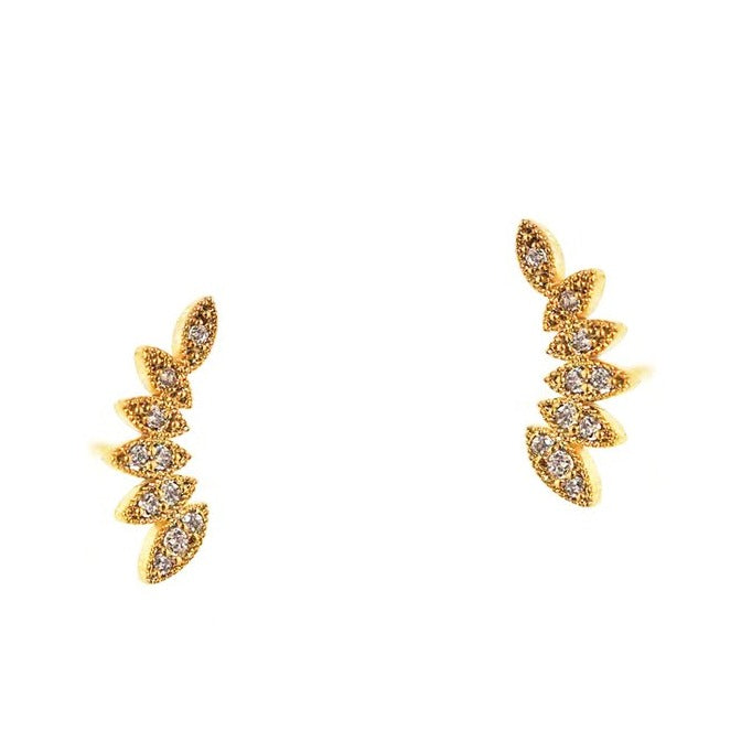 Tai Multiple Marquis Shaped CZ Crawler Earring