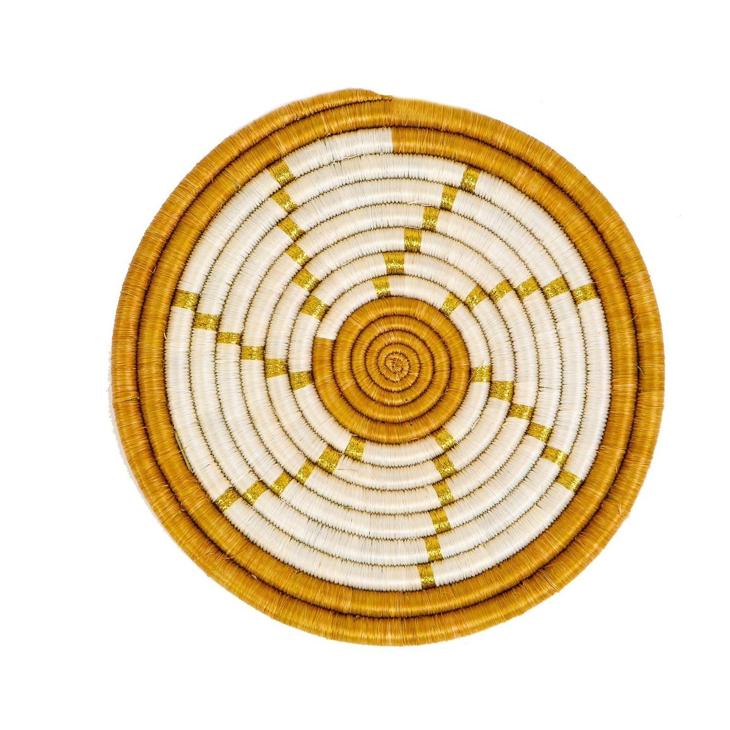 Spiral Metallic Gold Hot Pad