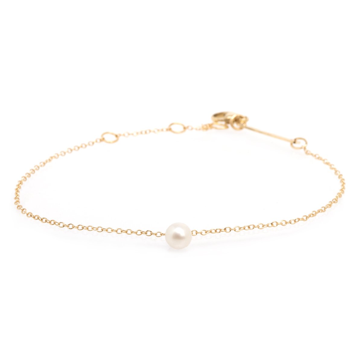 Zoe Chicco 14k Chain With Pearl Bracelet