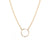 Zoe Chicco 14k XS Curb Circle Chain Bezel Diamond Necklace