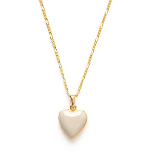 Heart Locket in Beige