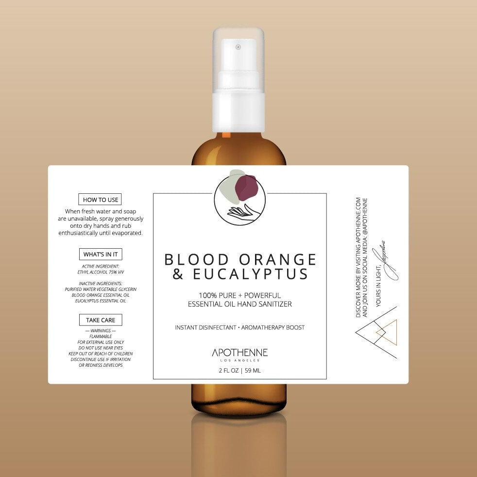 Blood Orange + Eucalpytus Hand Sanitizer
